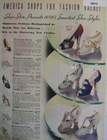 Sears Smartest Shoe Styles 1938 Ad