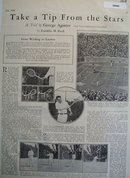 George Agutter Tennis Professional 1928 Article