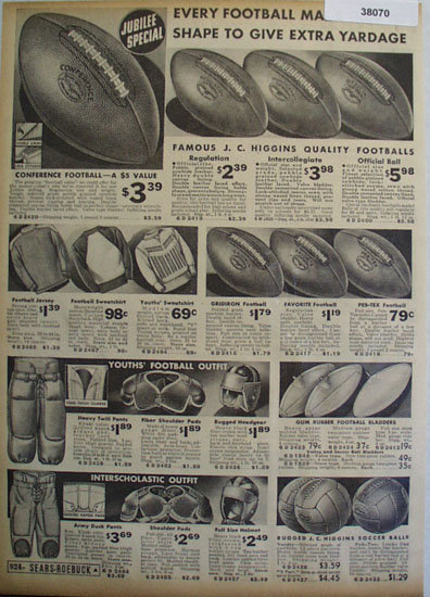 Sears Shop By Mail sporting Goods 1936 Ad