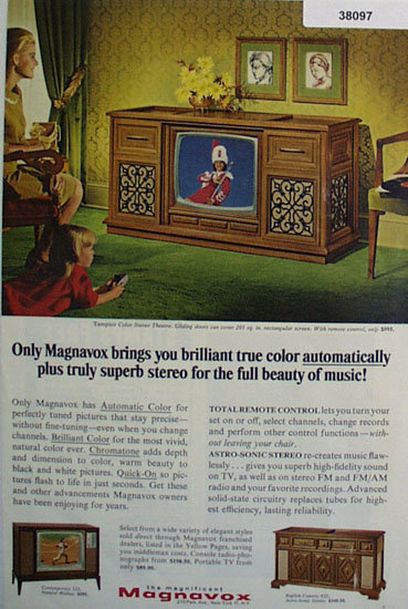 Magnavox Color Stereo Theater 1966 Ad