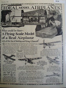 Ideal Model Airplanes 1928 Ad