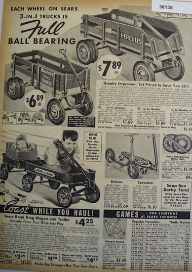 Sears Shop By Mail 1938 toys Ad