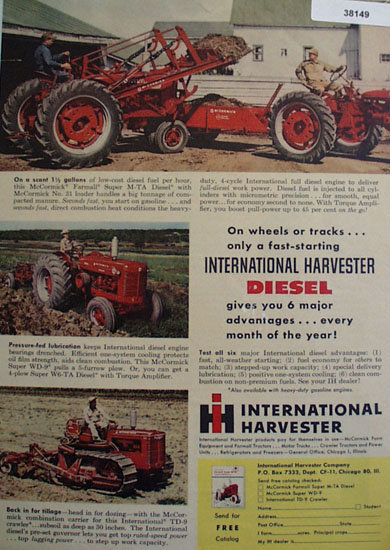 International Harvester Co. 1954 Ad