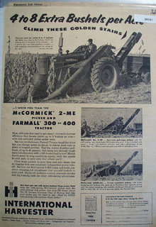 McCormick Picker And Farm all Tractor 1955 Ad