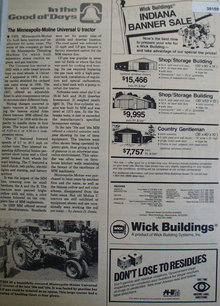 Minneapolis Moline Tractor 1985 Article