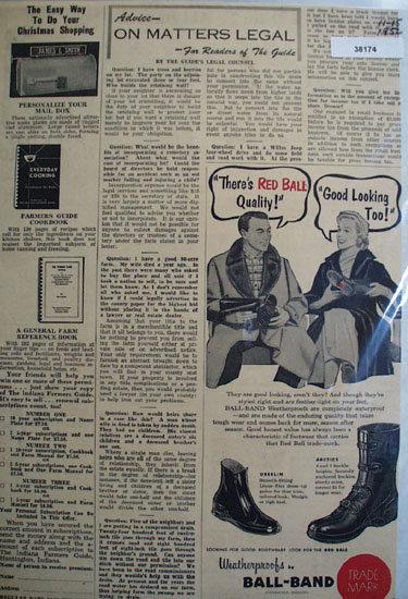 Ball Band Boots 1952 Ad