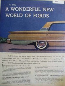 Ford Galaxie Town Victoria Car 1959 Ad