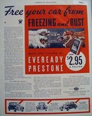 Eveready Prestone Anti Freeze 1933 Ad