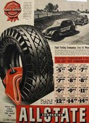 Allstate Companion Fleet Tested Tires 1938 Ad