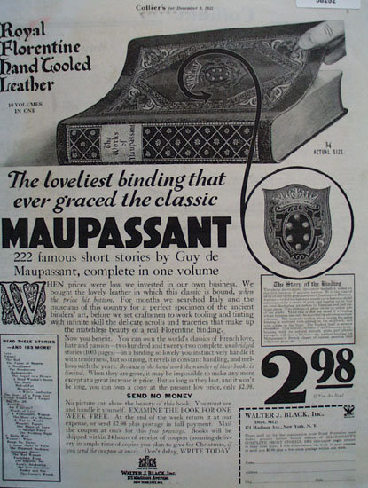 Guy De Maupassant Book 1933 Ad