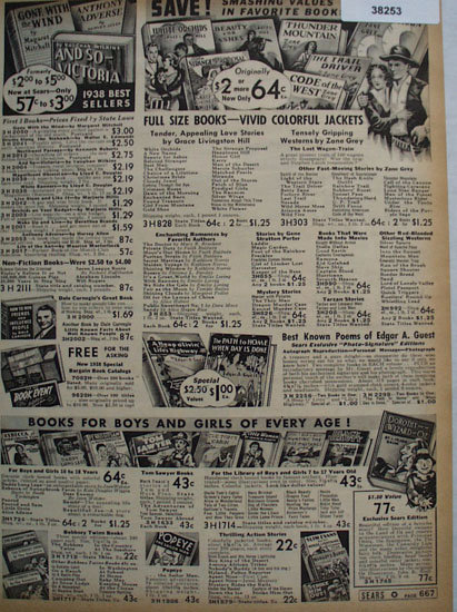 Books By Sears 1938 Ad