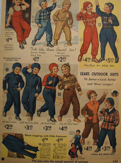 Sears Young Girls Clothes 1935 Ad