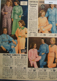 Sears Girls Pajamas 1938 Ad