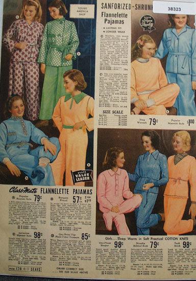 Sears Girls Pajamas 1938 Ad
