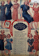 Sears Young Miss Dresses 1936 Ad