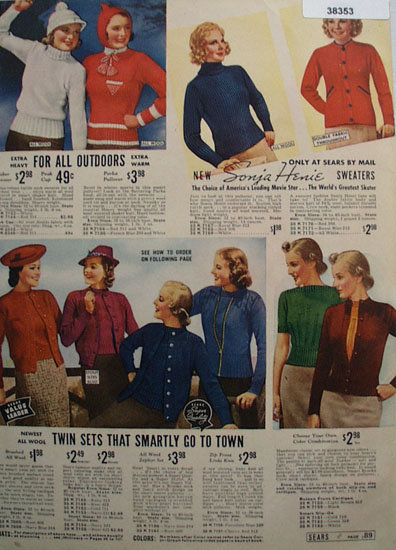 Sears Sweaters 1938 Ad