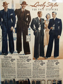Sears Lively Styles Mens Suits 1938 Ad.