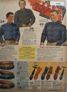 Sears Shirts, Belts and Ties 1936 Ad