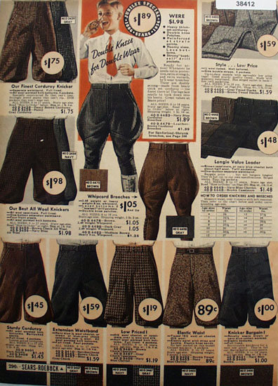 Sears Boys Breeches Pants And Knickers 1936 Ad