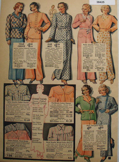 Sears Cotton Pajamas 1935 Ad