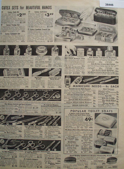 Sears Manicure Instruments and Soap 1938 Ad