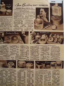 Sears Beauty Preparations 1938 Ad