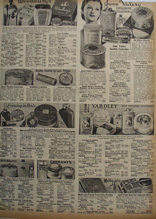 Sears Toiletries 1938 Ad