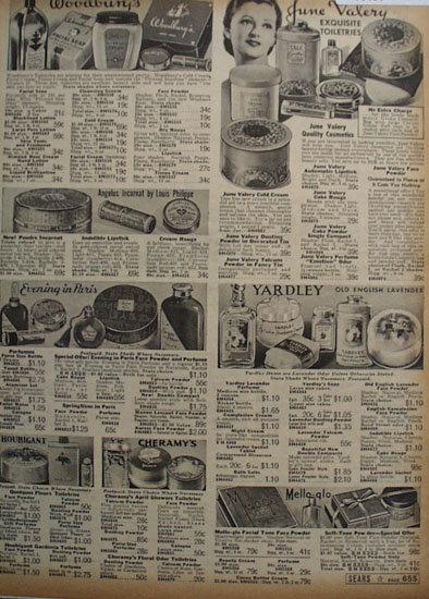 Sears Toiletries 1938 Ad