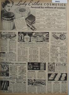 Sears Cosmetics 1938 Ad