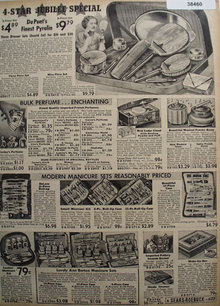 Sears Dresser Sets And Manicure Sets 1936 Ad