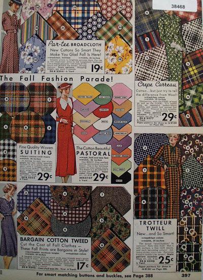 Sears Par Tee Broadcloth Fabric 1935 Ad