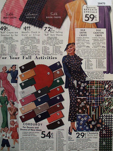 Sears Fall Fabric 1935 Ad.