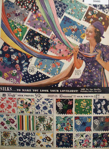 Sears Ruff Rosewood Fairloom Silk Prints 1938 Ad