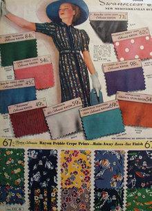Sears Rayon Fabrics 1938 Ad