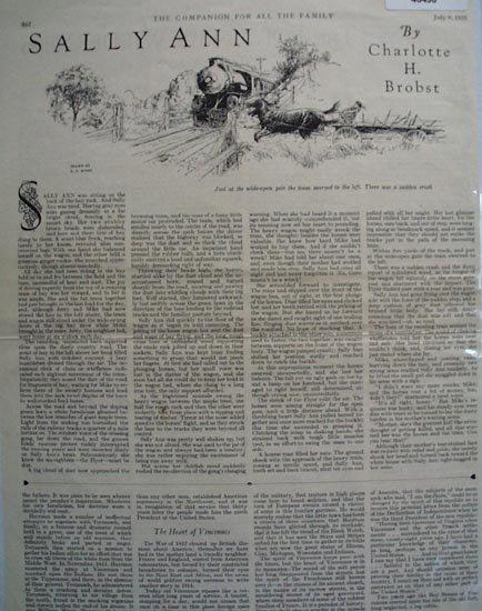 The Companion 1925 Short Story