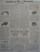 Learning To Play The Harmonica 1928 Article