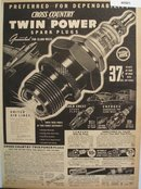 Sears Cross Country Sparkplugs 1938 Ad
