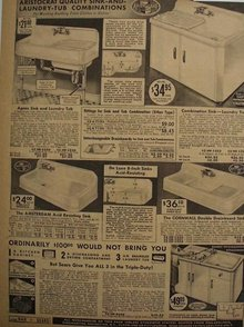 Sears Aristocrat Sink And Laundry Tub 1938 Ad