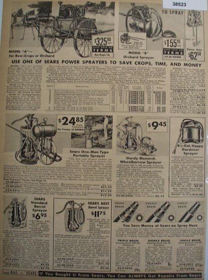 Sears Sprayers 1938 Ad