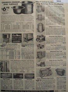 Sears Hog supplies 1938 Ad