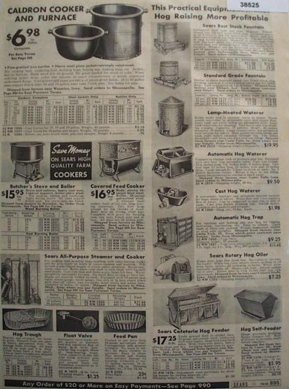 Sears Hog supplies 1938 Ad