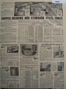 Sears Steel And Redwood Tanks 1938 Ad