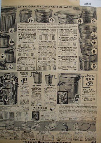 Sears Galvanized Ware 1936 Ad