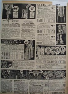 Sears Cream Separators Milk Bottles and Caps 1936 Ad