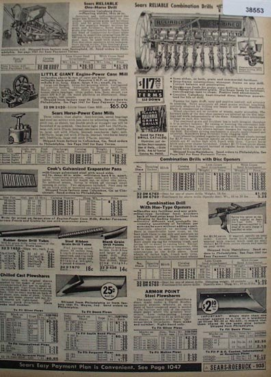 Sears Farm Machinery And Parts 1936 Ad