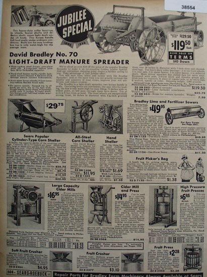 Sears Farm Machinery 1936 Ad