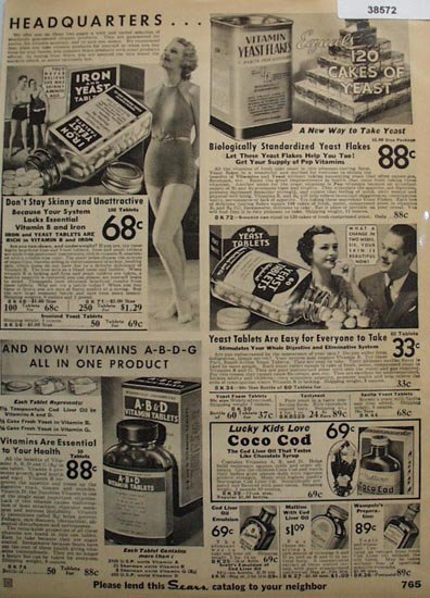 Sears Vitamin Products 1936 Ad