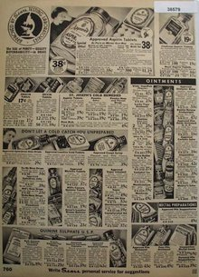 Sears Ointments And Cold Remedies 1936 Ad