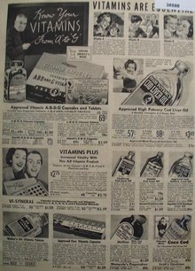 Sears Vitamins 1938 Ad