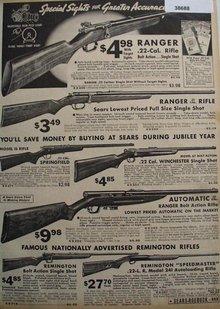 Sears Ranger and Remington Rifles 1936 Ad